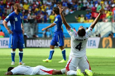Costa Rica stun  Italy 1-0