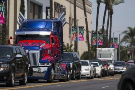Uber users get to ride in Optimus Prime truck