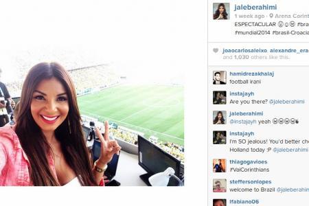 Meet Jale Berahimi, presenter and hottie at World Cup 2014