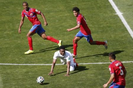 Costa Rica comes up top, England ends at bottom