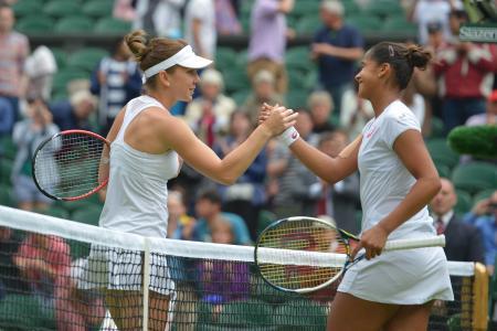 Halep seizes Centre Court chance to open Wimbledon account