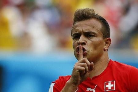 Shaqiri hat-trick sends Swiss into last 16