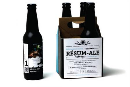 This designer's home-brewed beer resume is a hit