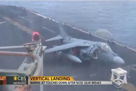 (Video) Pilot's epic emergency landing on stool