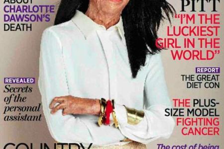 Burn victim makes the cover of Australian magazine