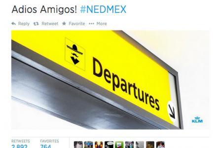 KLM deletes sombrero tweet after Mexico defeat