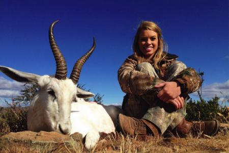Teenage big game hunter's photos causes uproar