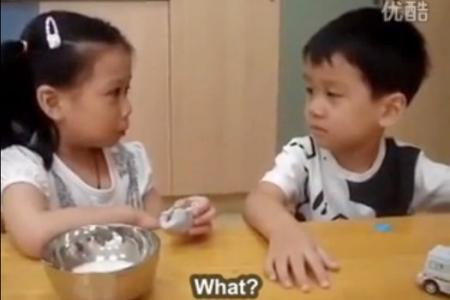 WATCH: Adorable boy comforts girl on first day of school