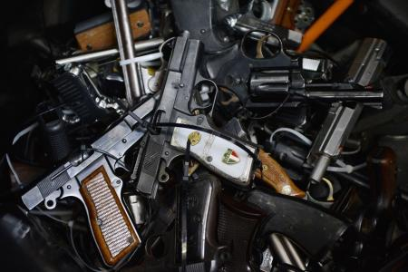 Robbers attack gun collector's home and leave with 31 guns