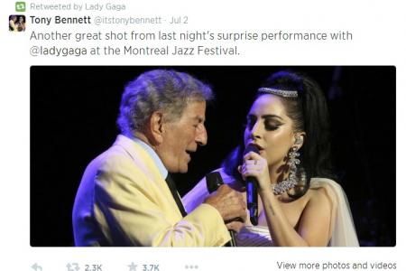 (Video) Lady Gaga surprises at jazz fest with Tony Bennett