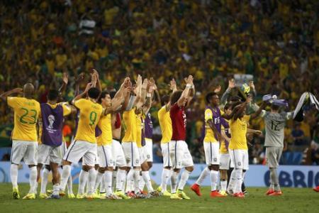 Two defenders scored to send Brazil into semi finals