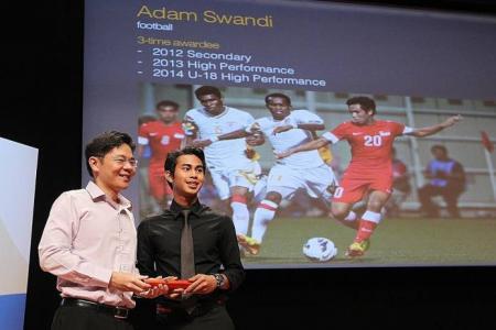 Footballer Adam Swandi gets good news about NS deferment
