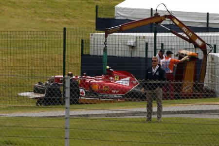 Motor racing: Raikkonen misses F1 test after British GP crash