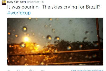 Why is it raining today? Baey Yam Keng has the answer #brazil #tears