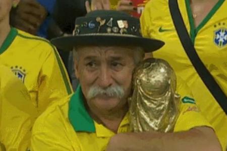 Heartwarming ending for sad Brazil fan