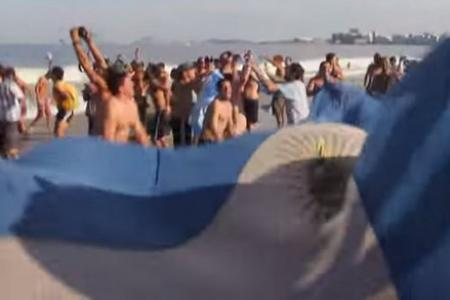Argentine fans sing a song of Brazilian humiliation