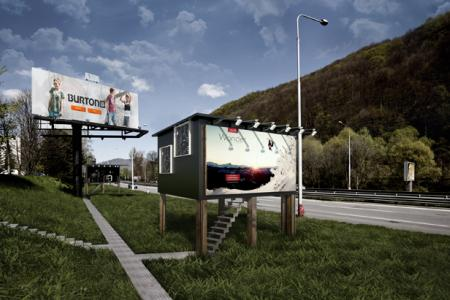 Slovak architect turns billboards into homes for the homeless