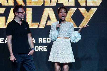 Guardians of the Galaxy stars wow crowd despite smaller turnout