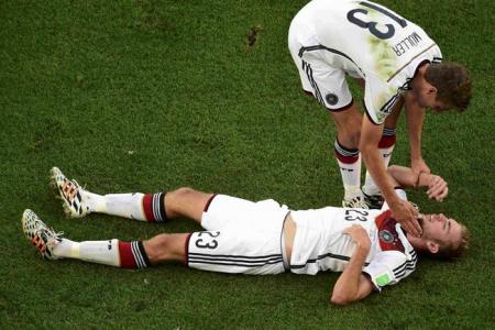 World Cup final a daze for concussed Kramer