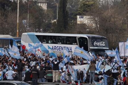 GALLERY: Thousands welcome Argentina home after World Cup defeat