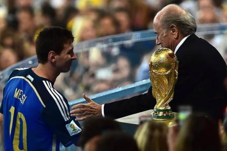 Blatter surprised Messi wins best player award