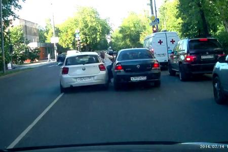 Shocking video: Road bully deliberately runs over old man