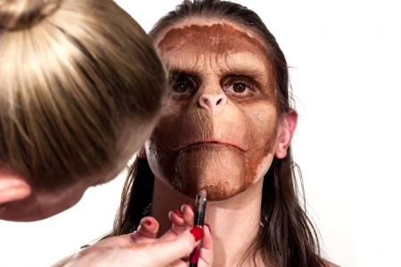 VIDEO: Man turns into ape with make-up