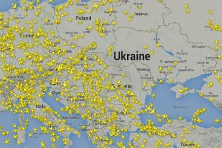 Why was MH17 flying over Ukrainian airspace?