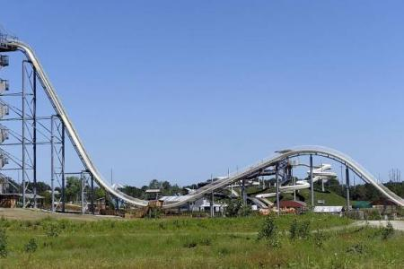 World's tallest 'insane' water slide opens in Kansas City