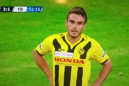 Watch Swiss league player score a stunner...at the wrong end
