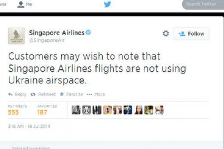 SIA apologises for MH17-related social media posts