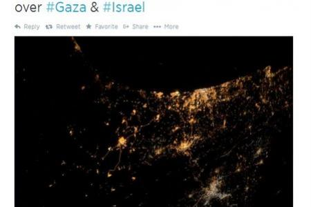 Astronaut tweets his saddest photo - Israel-Gaza conflict from space