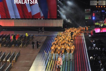 Malaysian contingent's tribute to MH17 victims at Commonwealth Games' opening