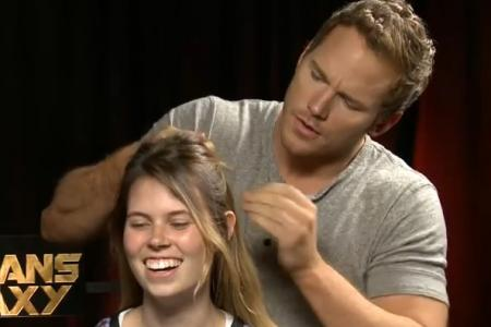 Do you want Guardians of the Galaxy star Chris Pratt to braid your hair?
