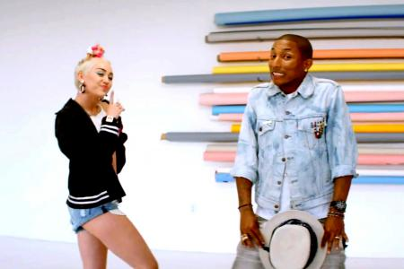 Pharrell's new music video has Miley Cyrus in it