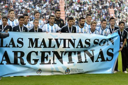 Argentine FA fined for Falklands banner