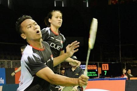 Singapore shuttlers narrowly miss out on team final