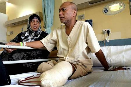 Man who lost both legs to accident hopes to go home for Hari Raya