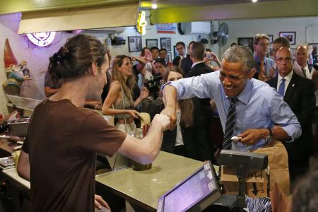People, fist bumps are cleaner than handshakes