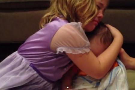 WATCH: Little girl is devastated that baby bro has to grow up