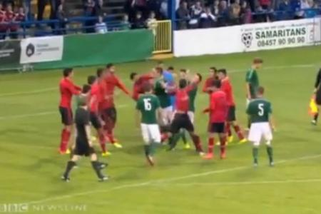 Brawls mar Milk Cup game between N. Ireland and Mexico
