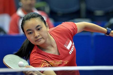 Three of Singapore's four mixed doubles pairs out