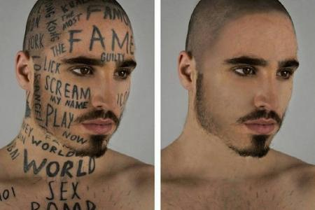 All for fame: Canadian model tattoos his face