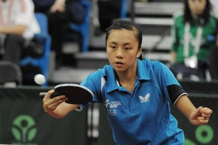 No clean sweep for Singapore in table tennis