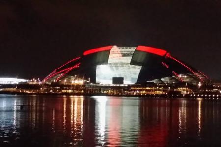Singapore Sports Hub lights up
