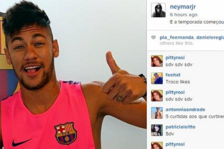 Guess who's back? Neymar reports for Barca training
