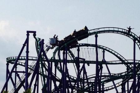 Riders stuck for five hours on US roller coaster