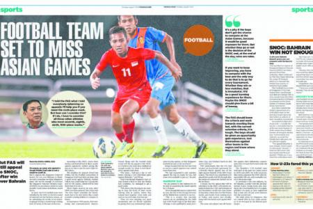 FAS to appeal for U-23s to go to Asiad