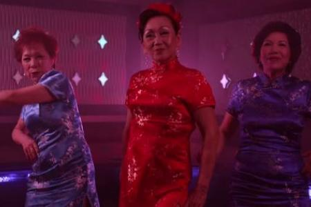 Cute aunties sing chorus of a Katy Perry song,  in Hokkien