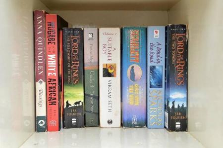 Public book shelf up in Serangoon estate